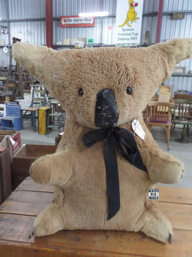 Large vintage Koala for sale at Heaths Old Wares, Collectables, Antiques & Industrial Antiques, 19-21 Broadway, Burringbar NSW 2483 Ph 0266771181 open 7 days