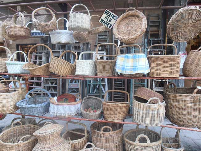 cane baskets heaths old wares collectable antiques bangalow a little above byron bay