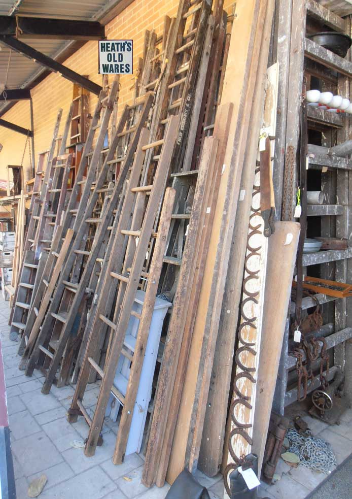 vintage and antique wooden ladders timber ladders tools