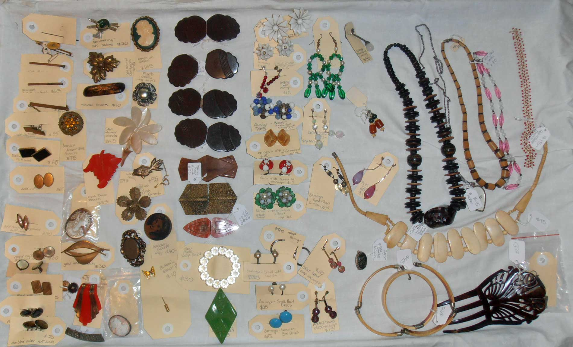antique and vintage buttons, costume jewellery, Boxes and crates, For sale at Heaths Old Wares, Antiques, Collectables and industrial antiques 12 station St bangalow NSW phone 0266872222 open 7 days