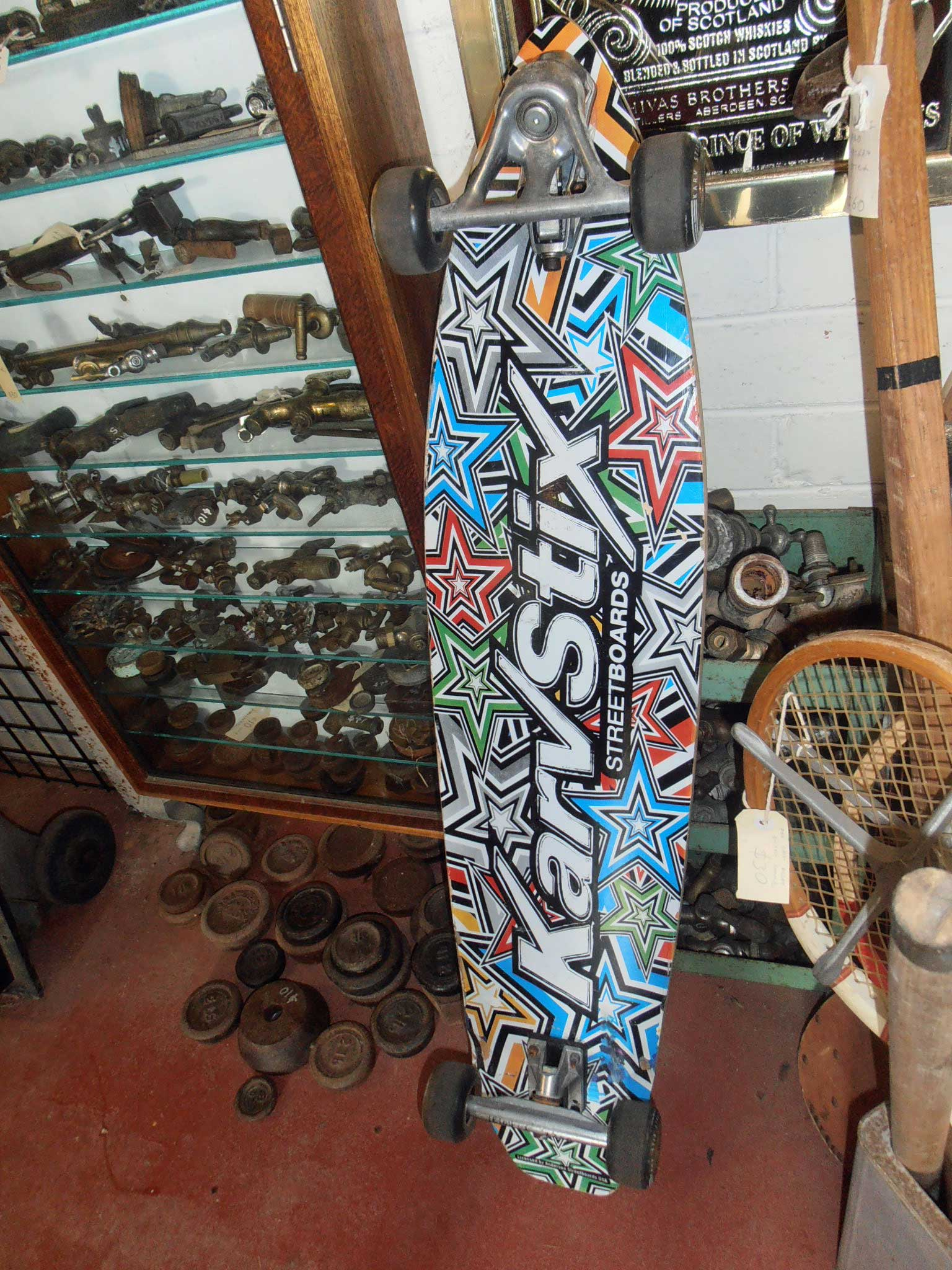 vintage skateboards For sale at Heaths Old Wares, Antiques, Collectables and industrial antiques 12 station St bangalow NSW phone 0266872222 open 7 days