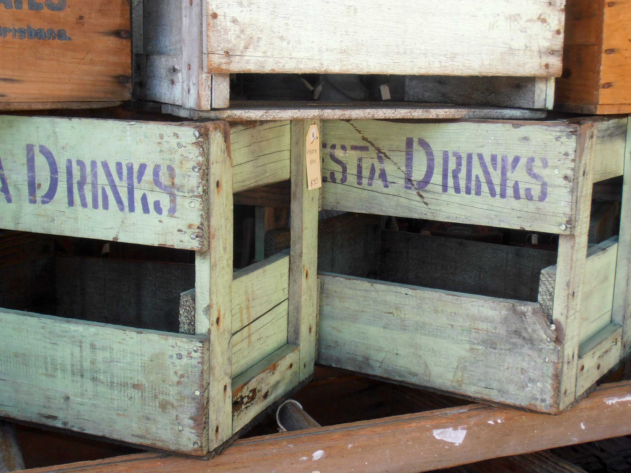 antique and vintage milk bottles and crates For sale at Heaths Old Wares, Antiques, Collectables and industrial antiques 12 station St bangalow NSW phone 0266872222 open 7 days
