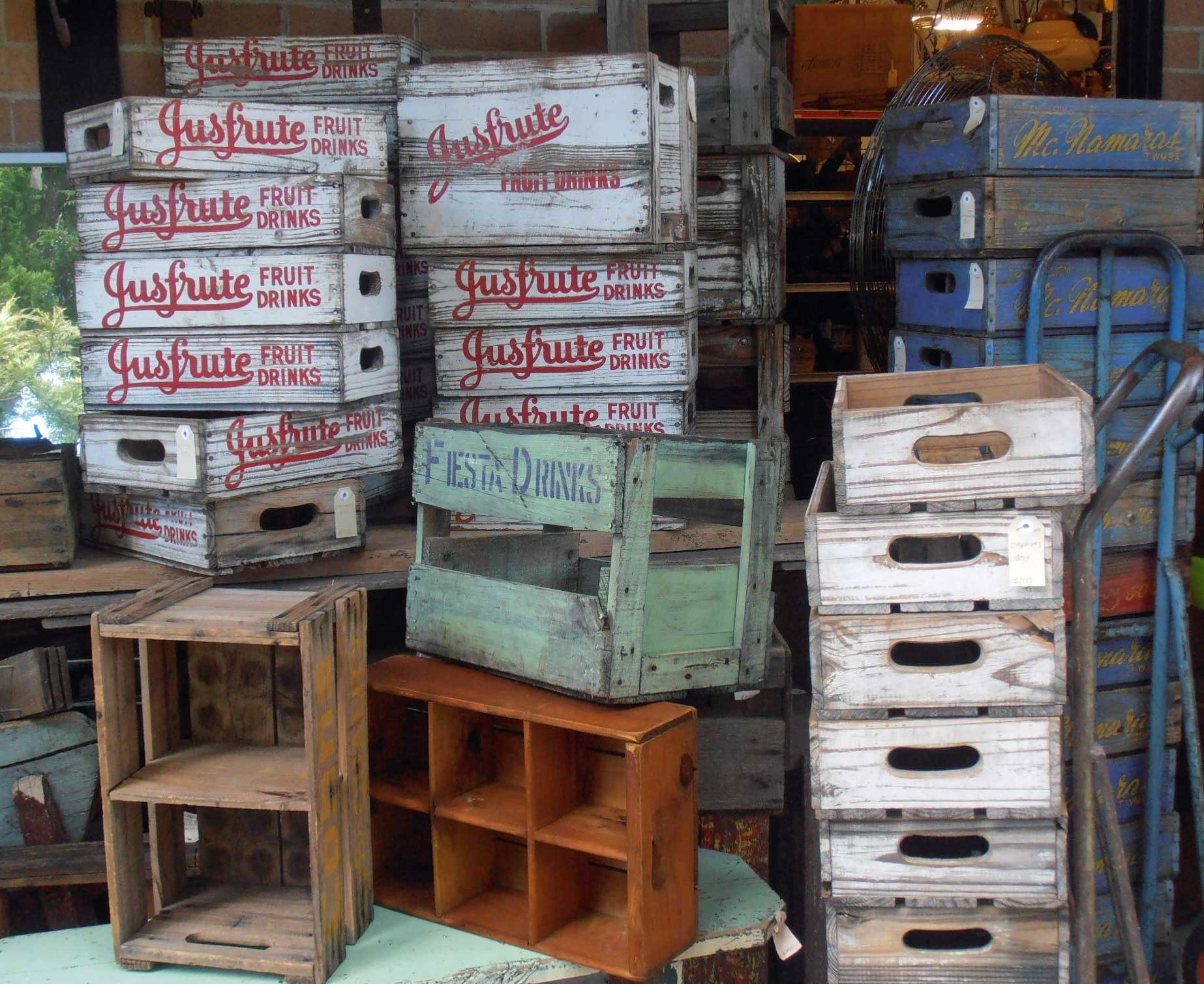 antique and vintage Boxes and crates, For sale at Heaths Old Wares, Antiques, Collectables and industrial antiques 12 station St bangalow NSW phone 0266872222 open 7 days