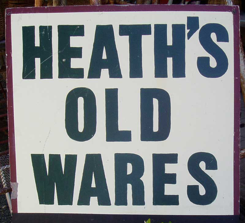 Heaths Old Wares and Collectables Phone Ross  0414 860 587