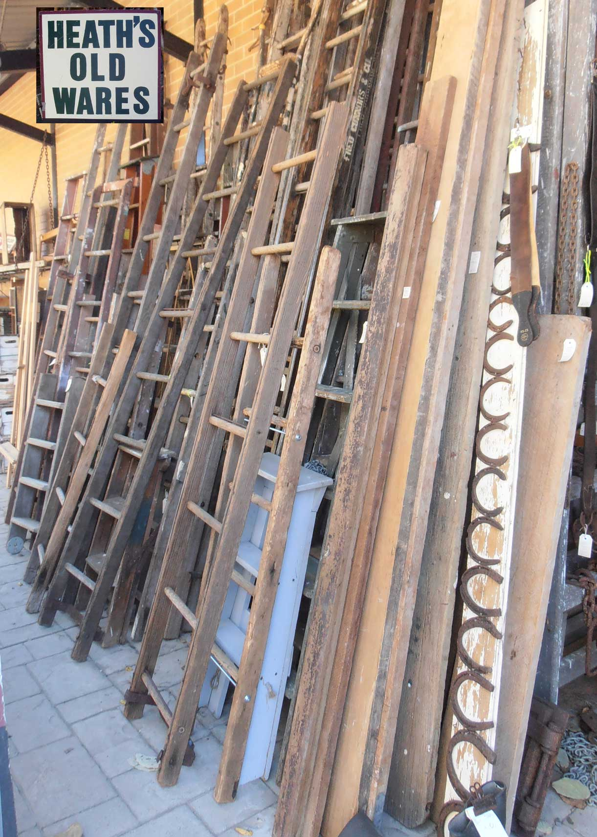 antique and vintage ladders for sale at heaths antiques bangalow